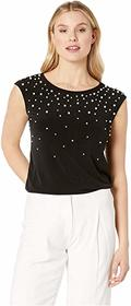 Calvin Klein Extended Shoulder w/ Ombre Pearl