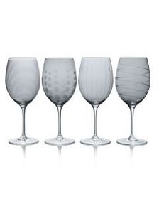 Mikasa Smoke Set of 4 Red Wine Glasses
