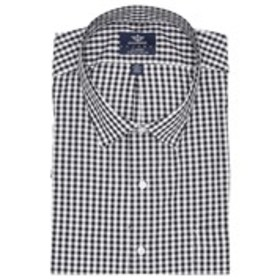 Mens Classic Fit Black Gingham Long Sleeve Dress S