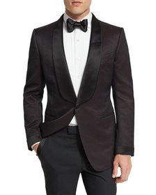 TOM FORD O'Connor Shawl Collar Dinner Jacket Brown