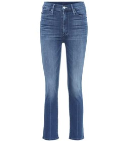 Mother The Rascal high-rise cropped jeans