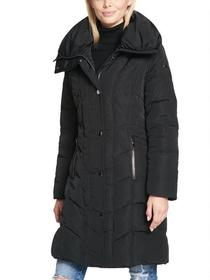 Kenneth Cole Large Puffer Collar Coat