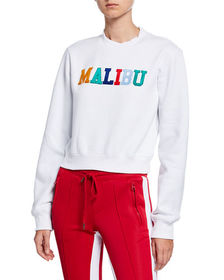 Kendall + Kylie Muse Cropped Cotton Sweatshirt