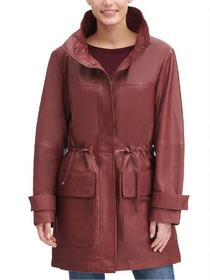 Wilsons Leather Vintage Hooded Leather Anorak