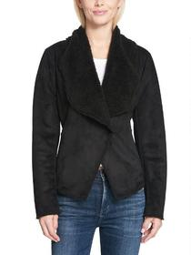 Kenneth Cole One Button Asymmetrical Front Snap Fa