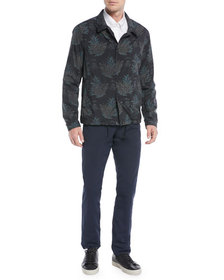 Vince Men's Coaches Tropical-Print Nylon Jacket