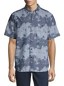 Tommy Bahama Pixel Palms Camp Shirt THRONE BLUE
