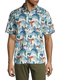 Tommy Bahama 24 Parrot Fronds Camp Shirt COCONUT C