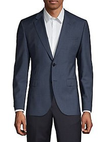 HUGO Jeffrey Virgin Wool Blazer NAVY