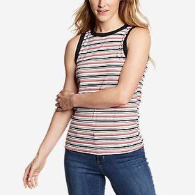 Women's Ribbed Tank Top - Stripe