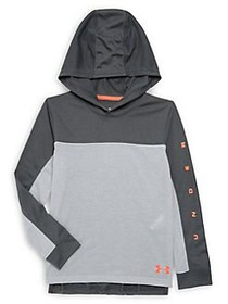 Under Armour Boy's UA Relay Hoodie GREY
