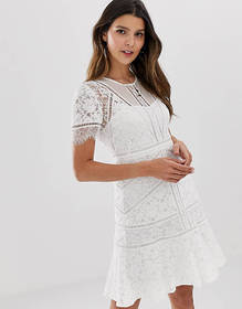 French Connection Chante lace midi dress