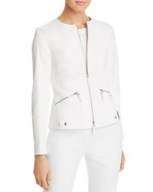 Lafayette 148 New York - Cairo Cropped Leather Jac