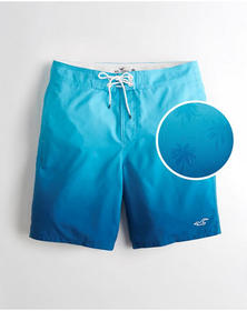 Hollister Classic Fit Boardshort 9 in., BLUE OMBRE