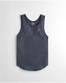 Hollister Must-Have Tank, HEATHER NAVY
