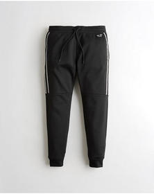 Hollister Tricot Jogger Pants, BLACK