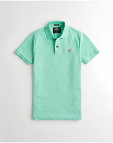 Hollister Stretch Muscle Fit Polo, MINT