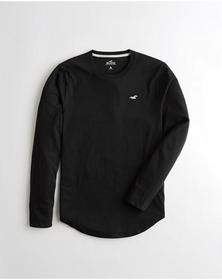 Hollister Must-Have Crewneck T-Shirt, BLACK WITH G