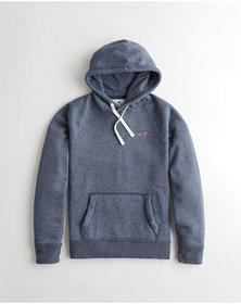 Hollister Icon Hoodie, HEATHER NAVY