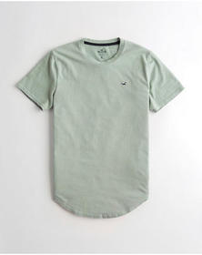 Hollister Curved Hem T-Shirt, LIGHT GREEN