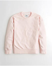 Hollister Crewneck Sweatshirt, LIGHT PINK