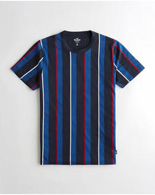 Hollister Stripe Crewneck T-Shirt, NAVY STRIPE