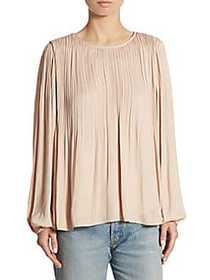 Elizabeth and James Grove Long-Sleeve Pleated Blou