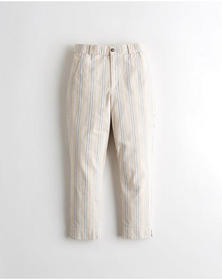 Hollister Stretch Crop Taper Pants, LIGHT BROWN ST