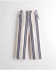 Hollister Ultra High-Rise Linen-Blend Culottes, PU