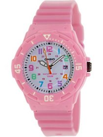 Women's Dive Style Watch with Pink Glossy Resin St