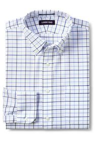 Lands End Men's Pattern No Iron Supima Oxford Dres