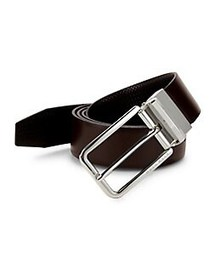 HUGO Ocasliso Reversible Leather Belt DARK BROWN