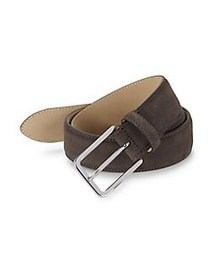 HUGO Suede Belt DARK BROWN