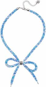 Betsey Johnson Dark Shadows Bow Frontal Necklace