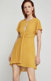 BCBG Twist Front Asymmetrical Dress