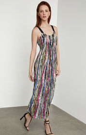 BCBG Striped Maxi Shift Dress