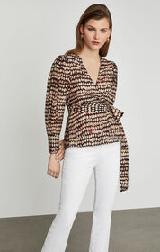 BCBG Sandy Dots Wrap Top