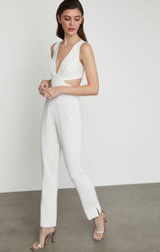 BCBG Sleeveless Cutout Back Jumpsuit