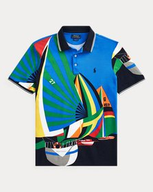 Ralph Lauren Classic Fit Sailboat Mesh Polo