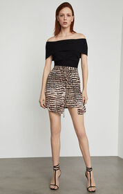 BCBG Sandy Dots Mini Skirt