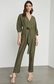 BCBG Faux Wrap Jumpsuit