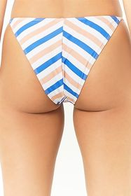 Forever21 Striped Strappy Bikini Bottoms