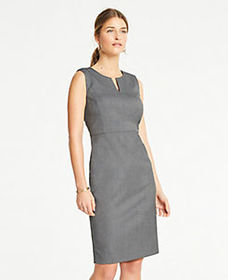 The Split-Neck Sheath Dress in Sharkskin