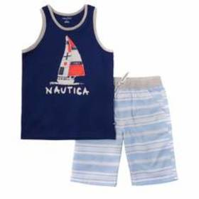 Boys (4-7) Nautica Tank Top & Shorts Set