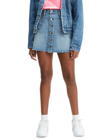 Levi's Premium Button-Front Denim Mini Skirt