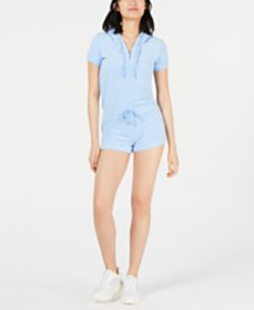 Juicy Couture Hooded Microterry Romper