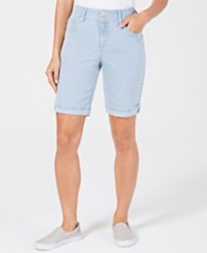 Style & Co Striped Bermuda Shorts, Created for Mac