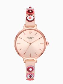metro western rivet vachetta leather watch