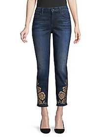 7 For All Mankind Rose Studded Skinny Jeans NIGHTT