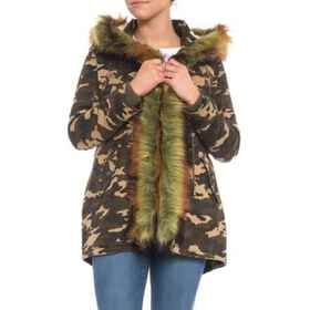 Boundless North Furry Camo Parka - 3-in-1, Insulat